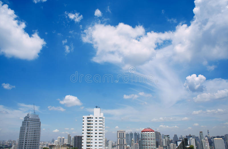 Beauty city view. stock images