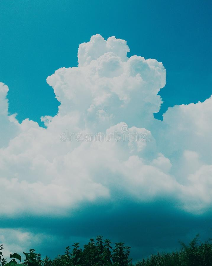 Beauty cloud royalty free stock images