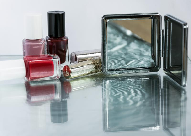 Beauty composition , make-up concept. royalty free stock photo