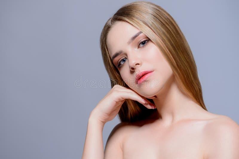 Shiny healthy skin royalty free stock image