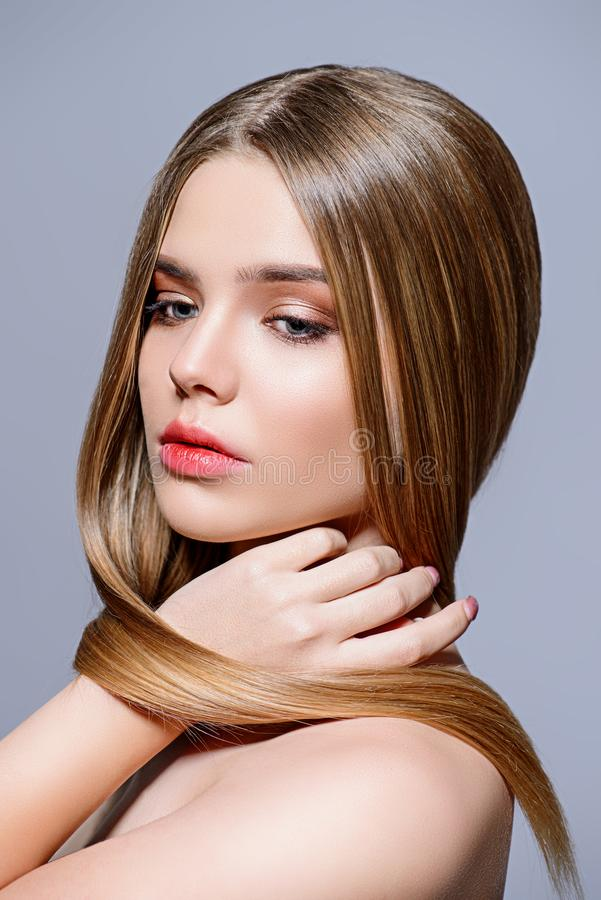 Shiny healthy skin stock photo