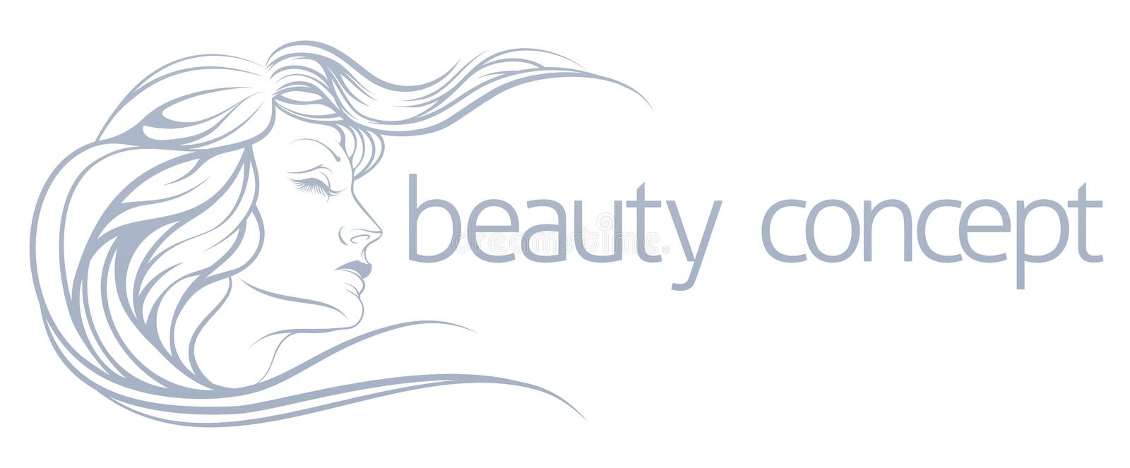 Beauty Concept royalty free illustration