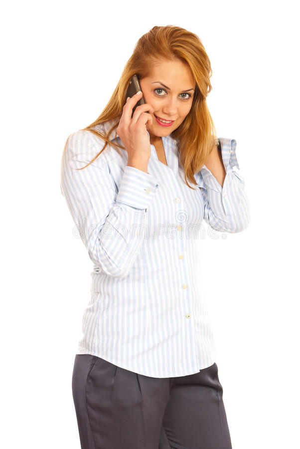 Download Beauty Confident Woman On The Phone Stock Photo - Image: 27669000