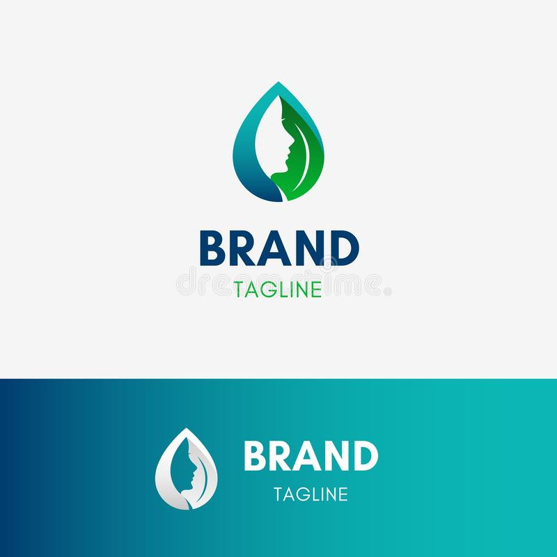 Beauty Cosmetic Logo stock illustration