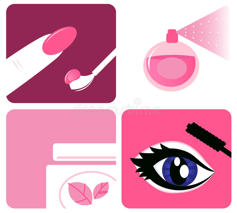 Download Beauty, Cosmetic And Makeup Icons Stock Vector - Image: 20391997