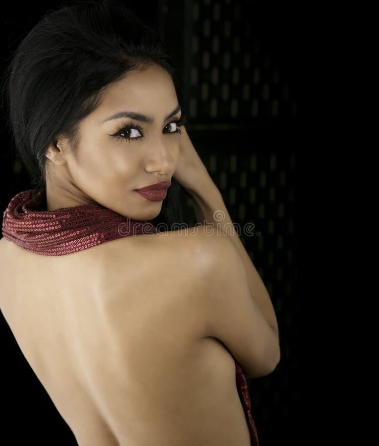 Beauty cosmetic makeup portrait stock photo