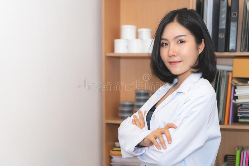 Beauty Cosmetic medical Female Lab worker stock photography