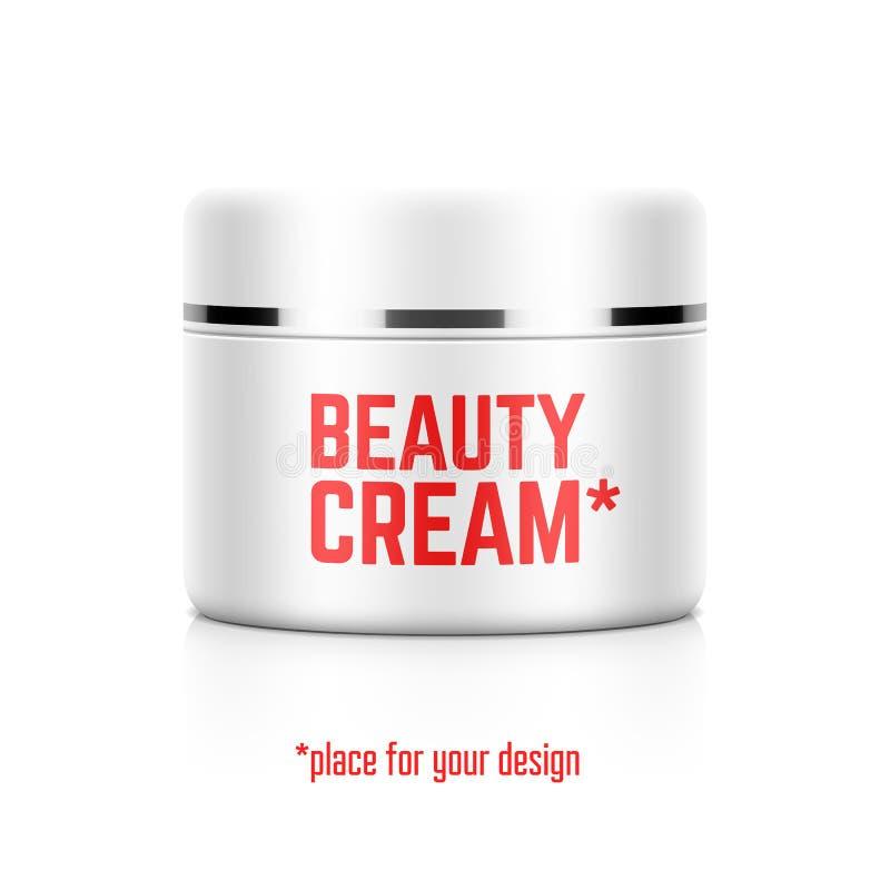 Beauty cream jar template royalty free illustration