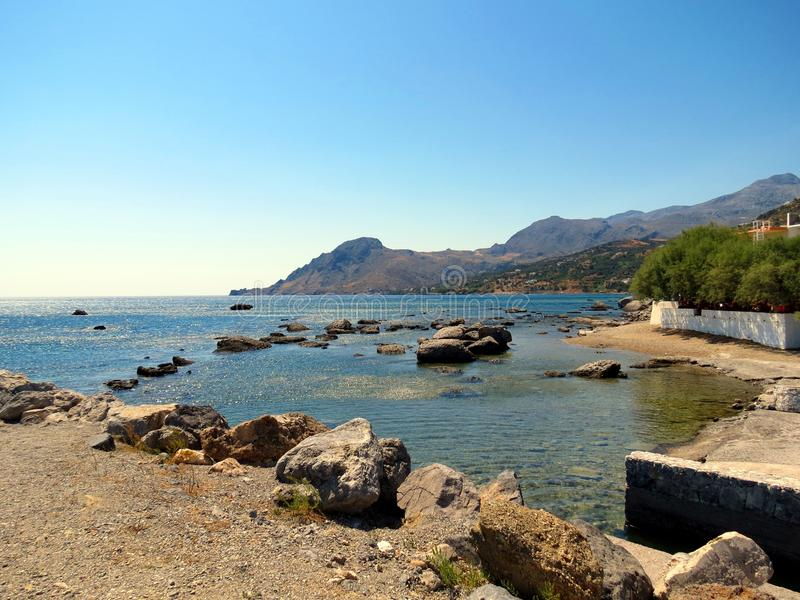 Landscapes of the Southern Crete royalty free stock photo