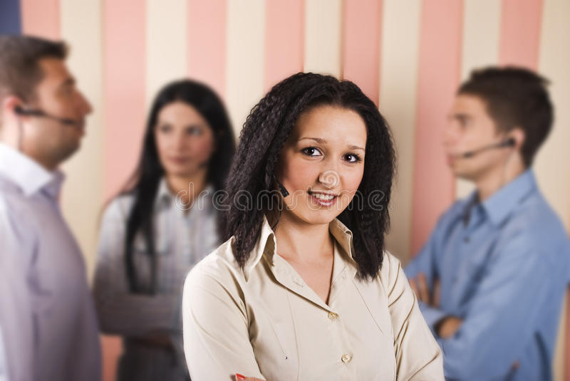 Download Beauty Customer Service Woman And Teamwork Stock Photo - Image of agents, contact: 10931612