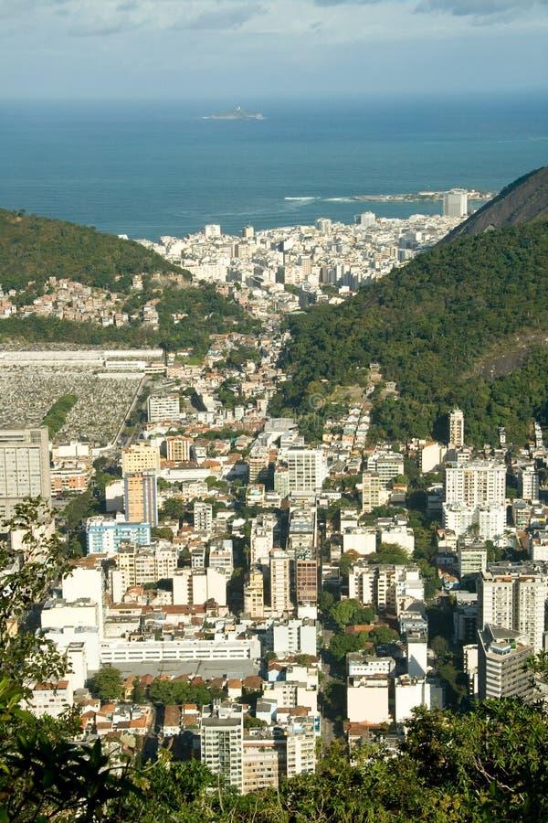 Vue au-dessus de Rio de Janeiro.   photos stock