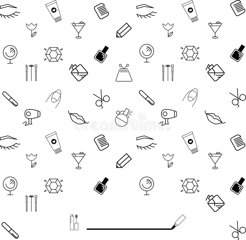 Beauty doodle brand list with space for name vector illustration