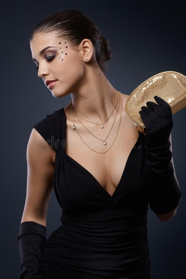 Download Beauty Dressed For Elegant Party Stock Image - Image: 28598805