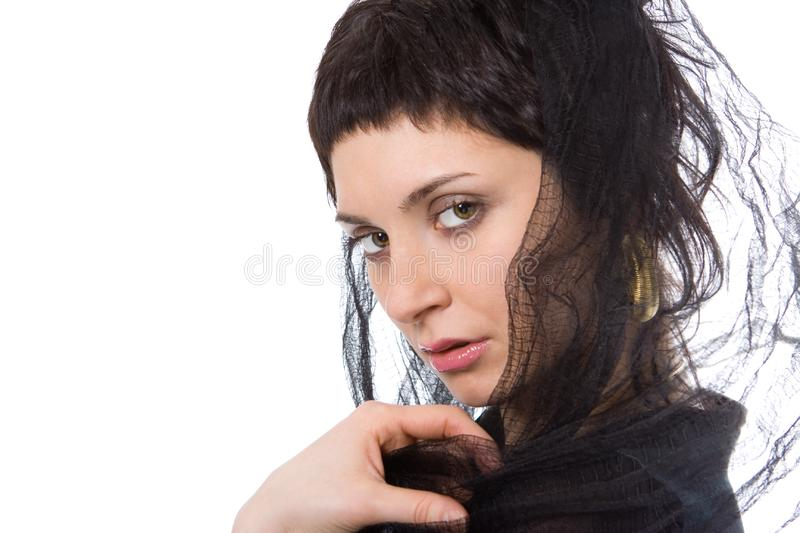 Beauty eastern woman in headscarf royalty free stock images