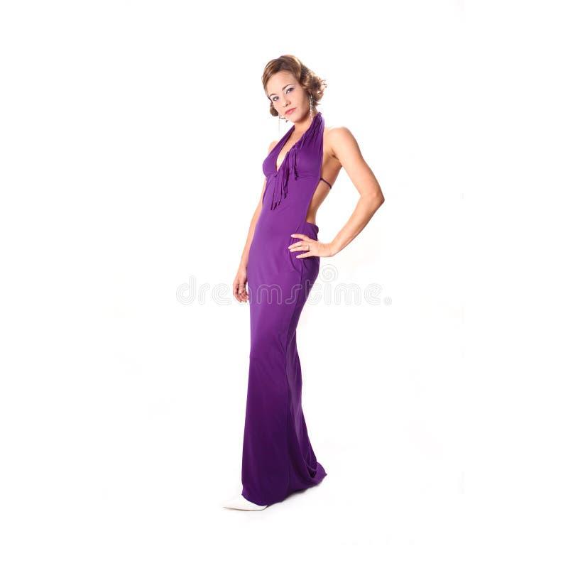 Beauty in evening dress stock photos