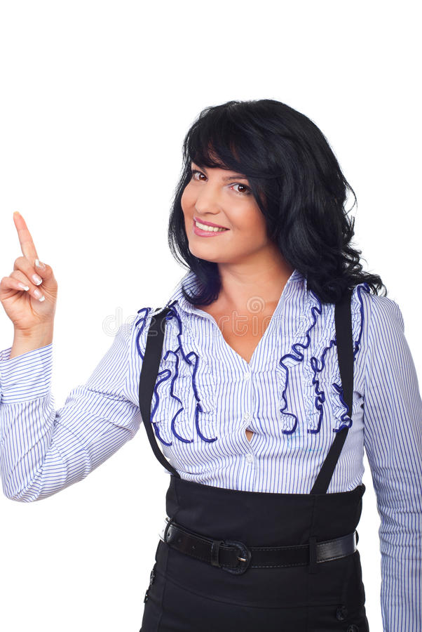 Download Beauty Executive Woman Pointing Stock Photo - Image: 16125342