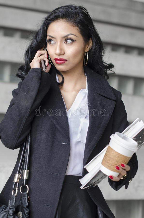 Beauty exotic young woman student business royalty free stock photography