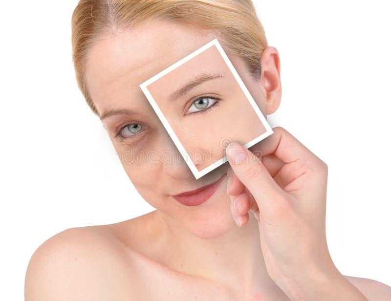 beauty eye makeover wrinkle στοκ εικόνα
