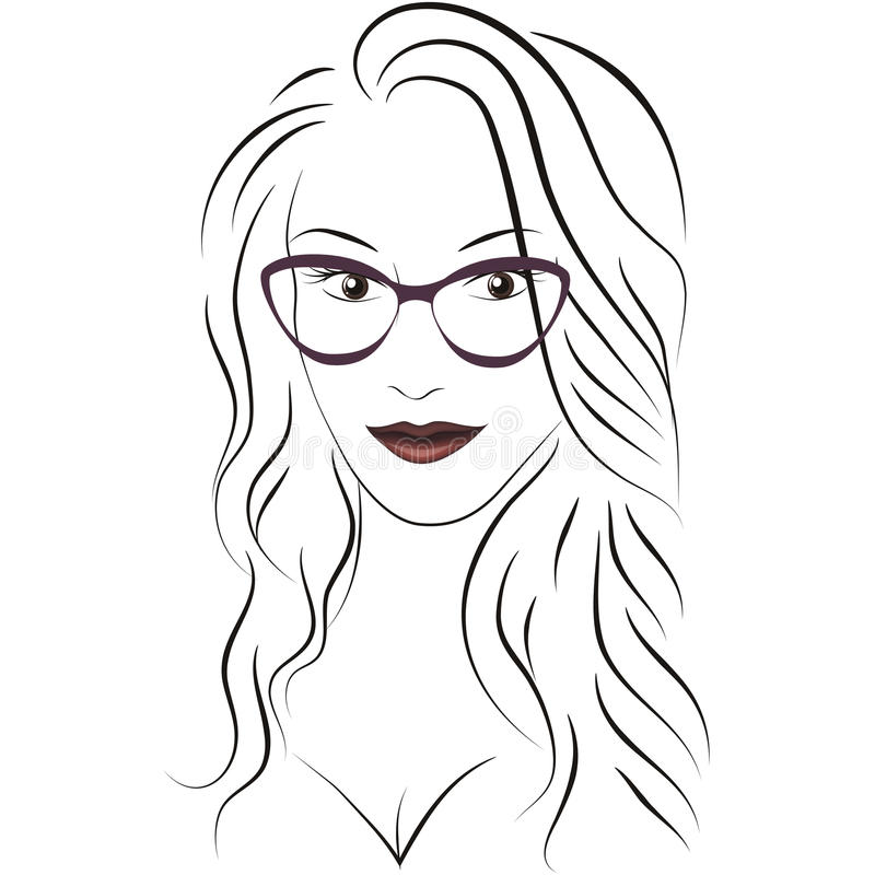 Beauty_face_with_glasses zdjęcie royalty free
