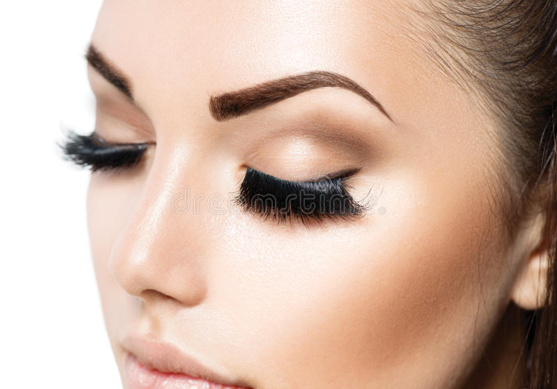 Beauty Face Makeup. Beauty Girl with Perfect Skin stock images