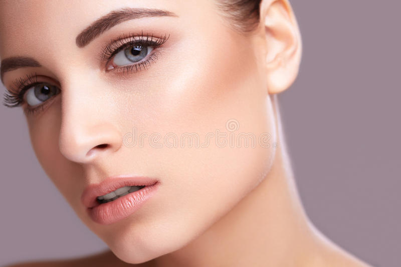 Beauty face portarit of a woman stock photography