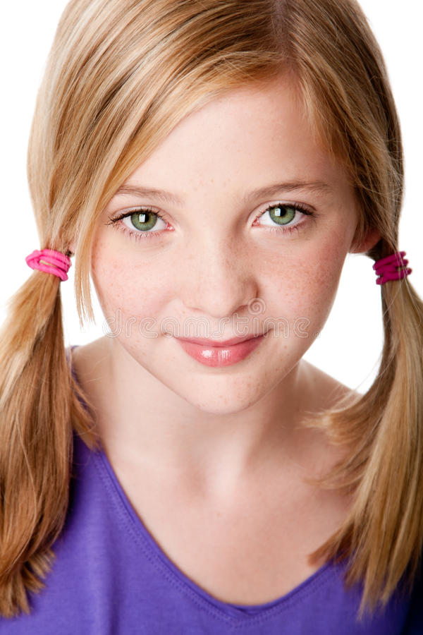 Beauty face of teenager girl royalty free stock image