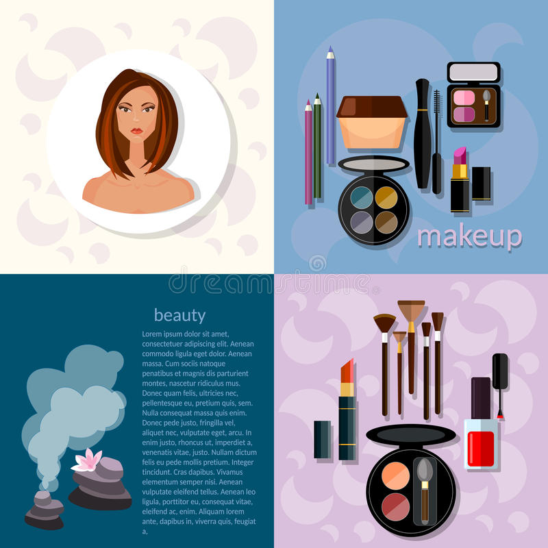 The Fashion Beauty Supply: Beauty Fashion Concept Makeup Products Professional Stock
