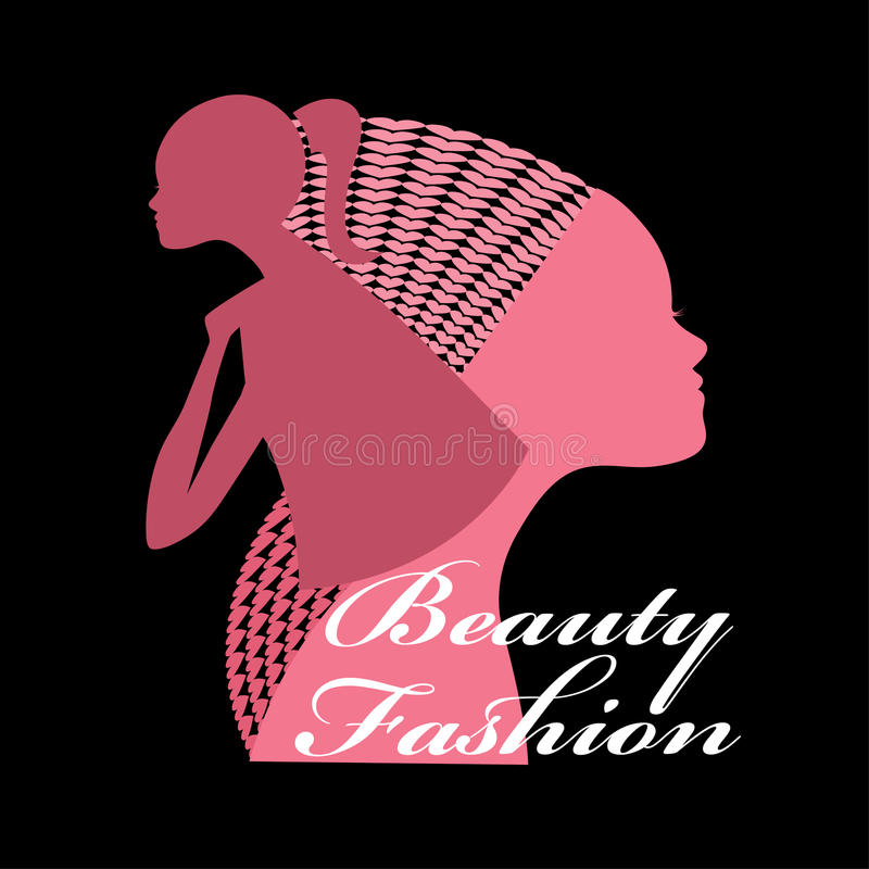 Beauty Fashion Females stock illustration