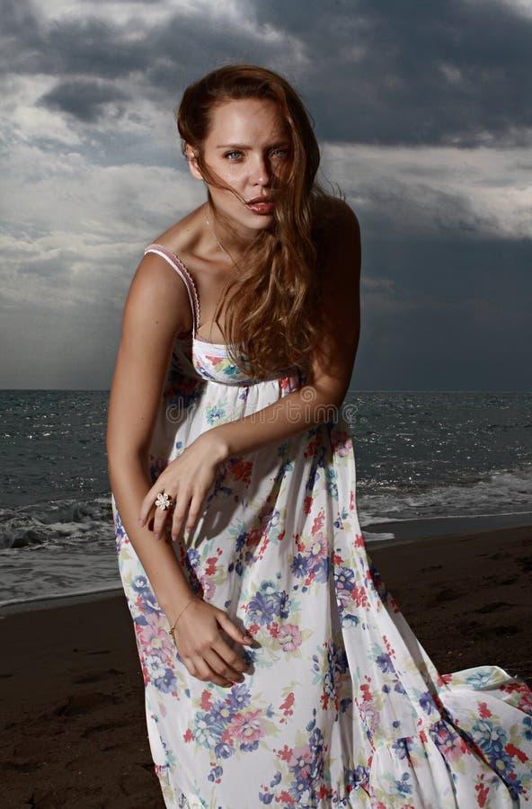 Beauty, Fashion Model, Model, Sea stock image