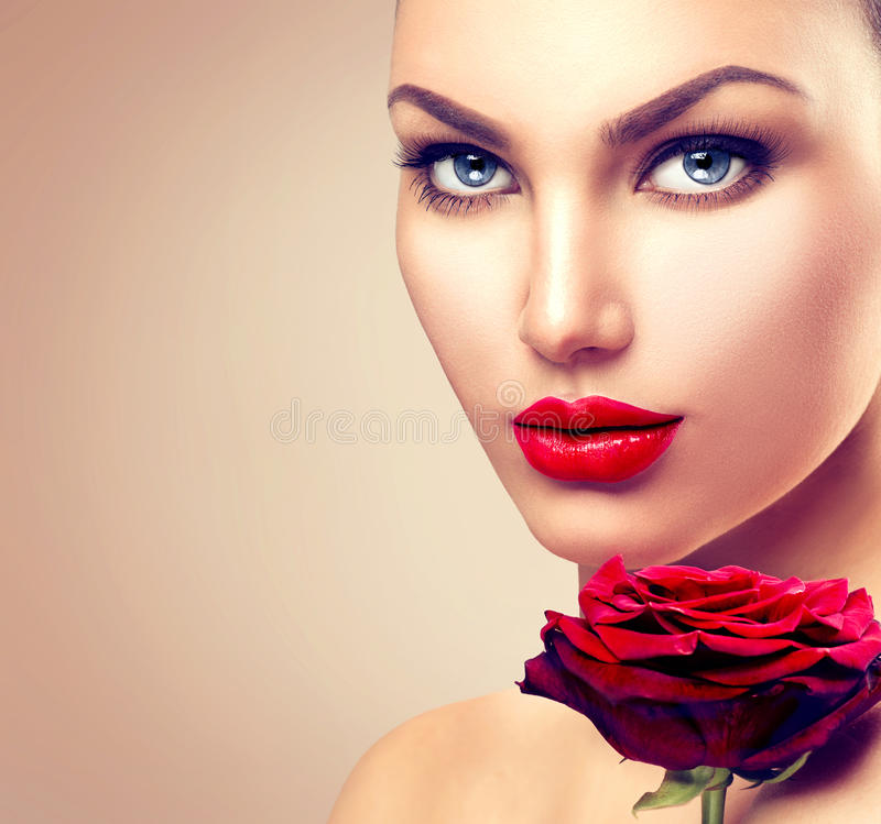 Beauty Fashion Model Woman Face Stock Photo