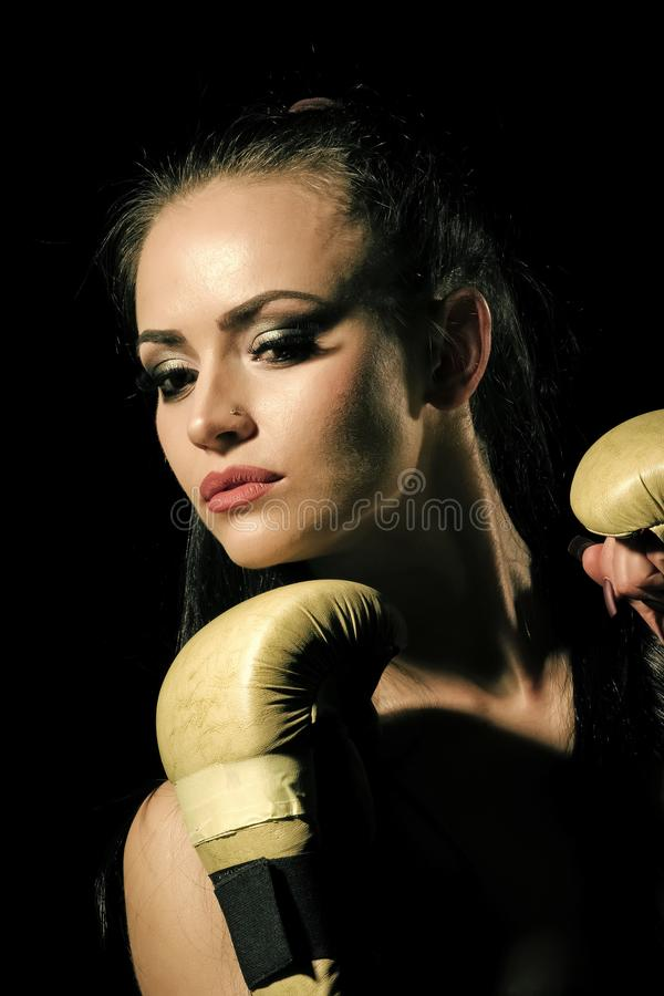 Beauty fashion portrait. Power and energy. royalty free stock image