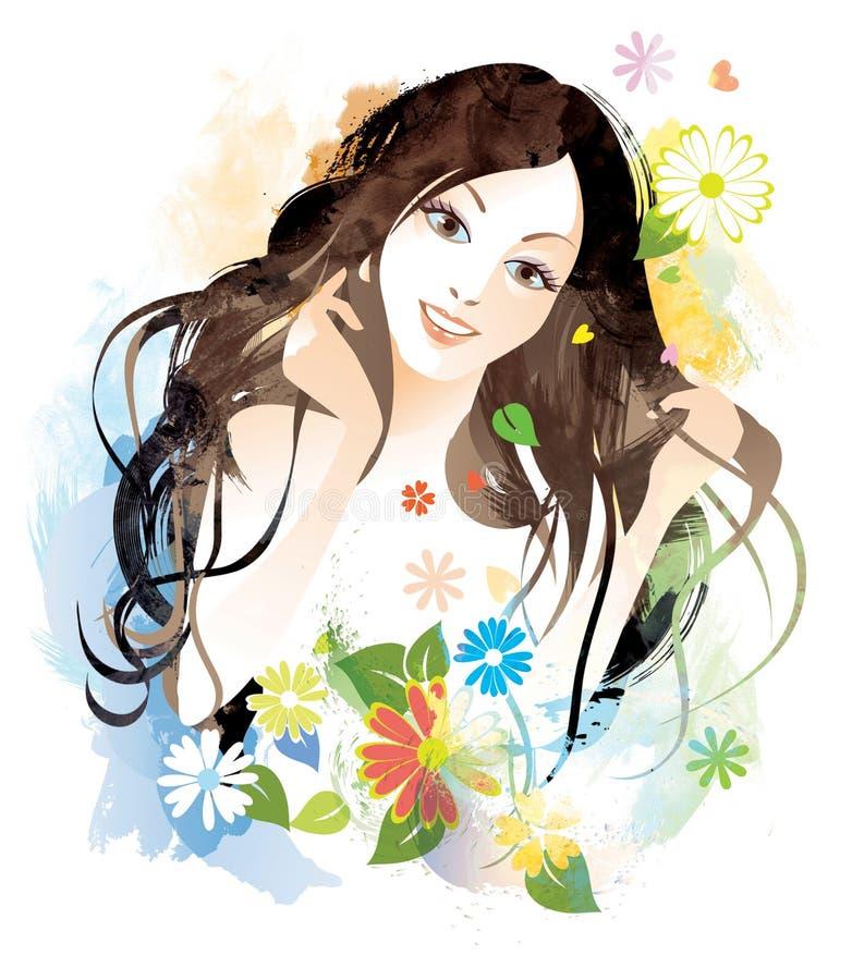 Beauty female royalty free illustration
