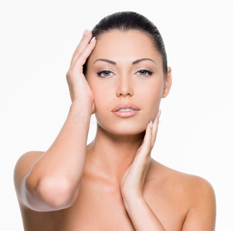 Beauty female face stock image