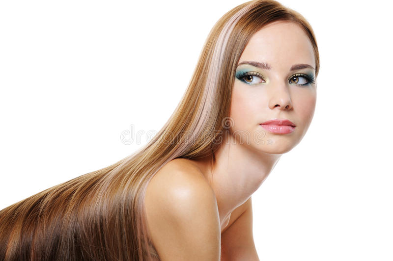 Download Beauty Female With Long Smooth Luxuriant Hair Stock Photography - Image: 10786522