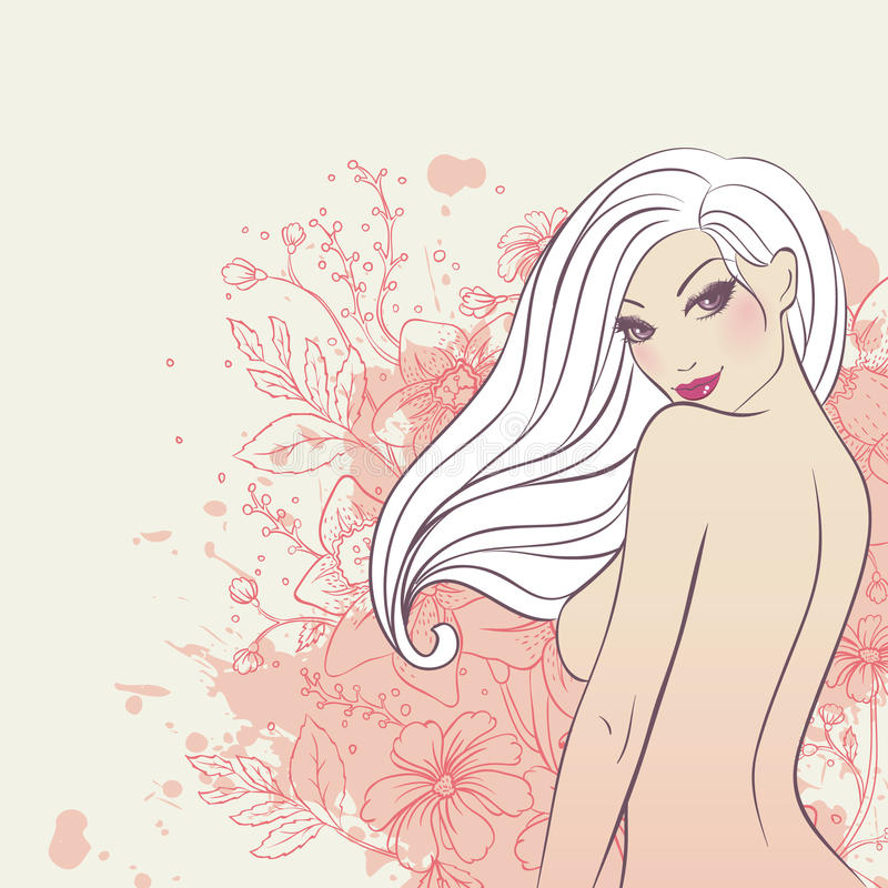 Download Beauty floral woman stock vector. Illustration of fashion - 21316334