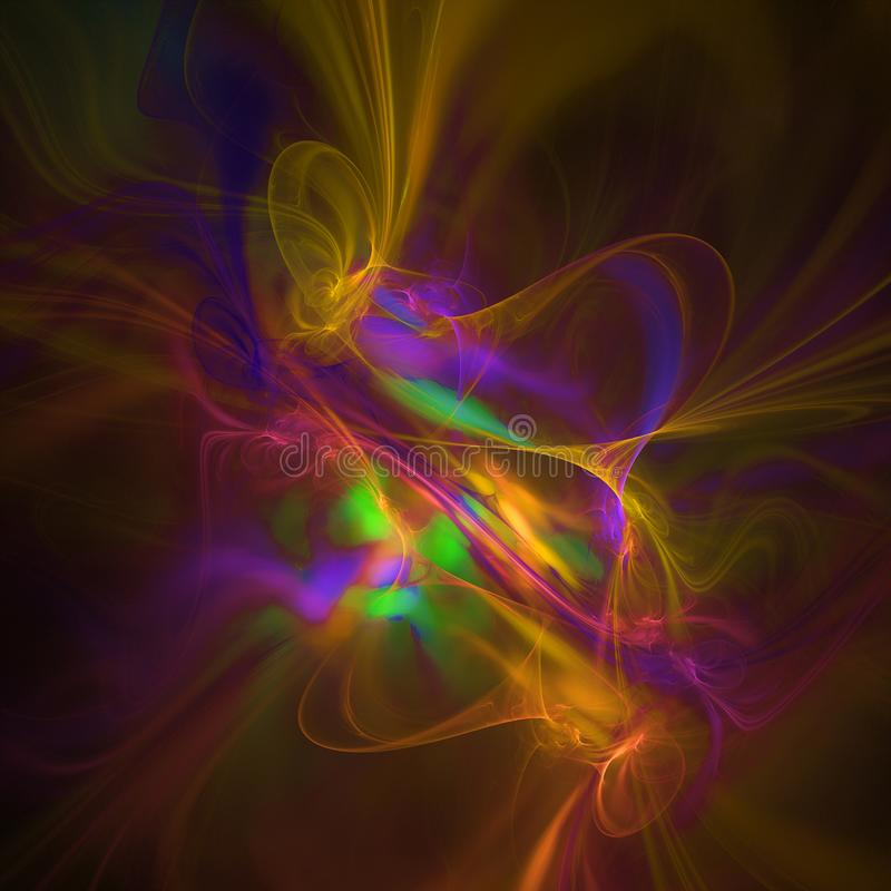 Colorful abstract fractal background with rails royalty free stock images