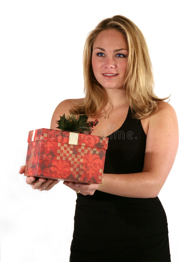 Beauty with Gift stock images