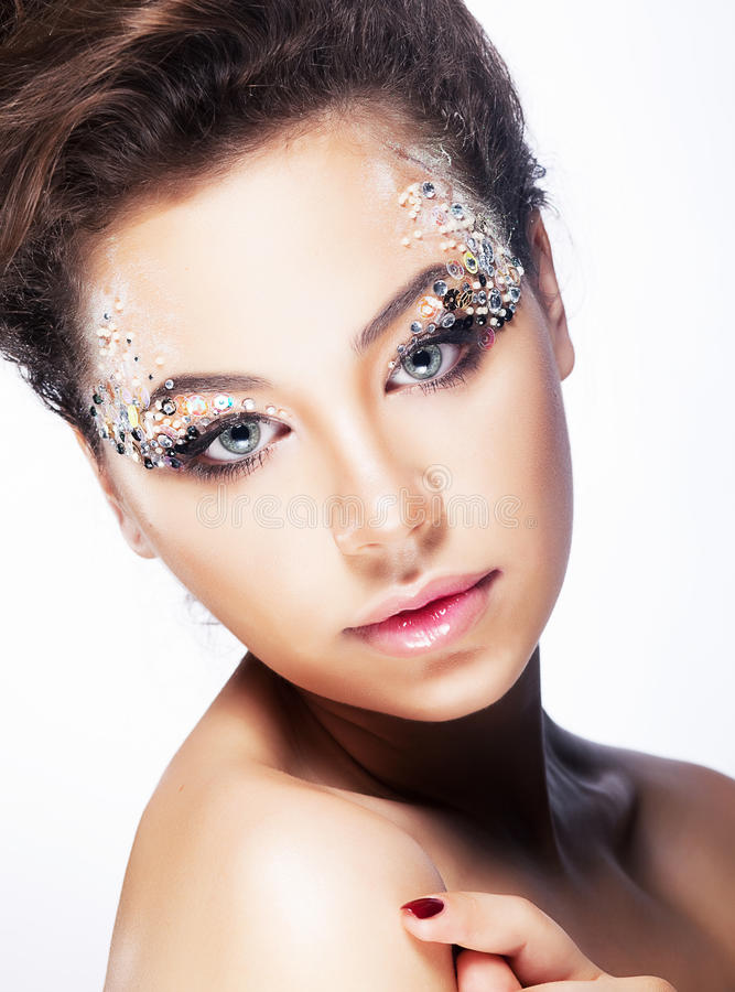 Download Beauty Girl - Brignt Brilliant Vibrant Makeup Stock Image - Image: 26484793