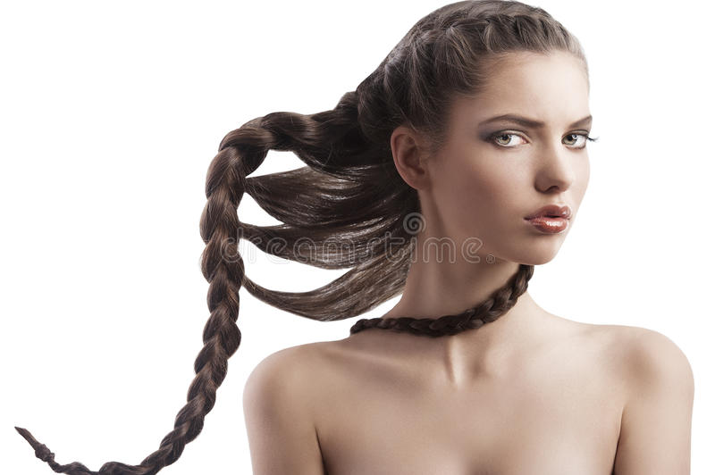 Download Beauty Girl With Creative Braid Stock Photo - Image of close, gorgeous: 22972394