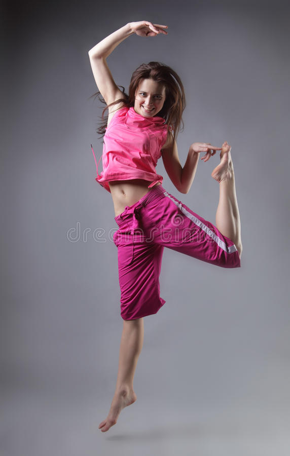 Download Beauty girl dance stock photo. Image of jump, expressing - 24802934