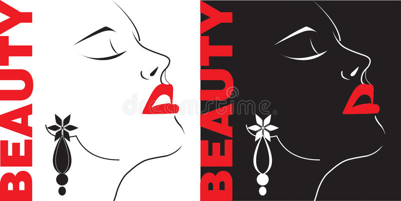 Beauty Girl Face Silhouette Royalty Free Stock Images