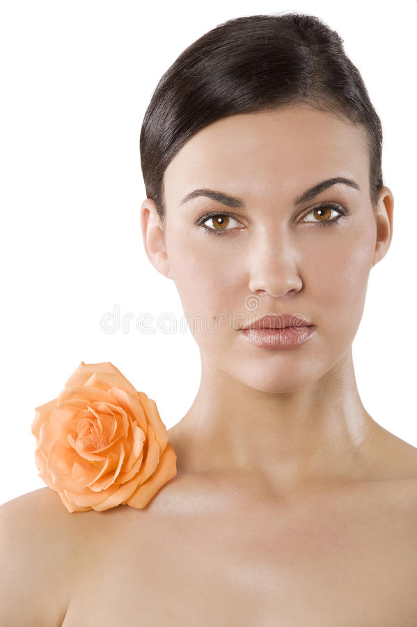 Download Beauty girl with flower stock photo. Image of adult, care - 19375548