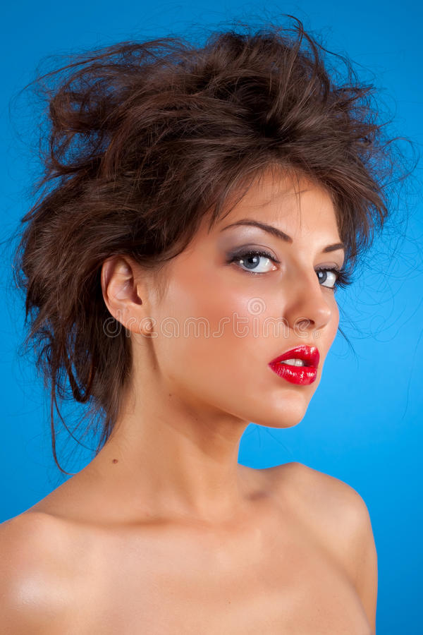 Download Beauty girl with nice hair stock image. Image of head - 15158935