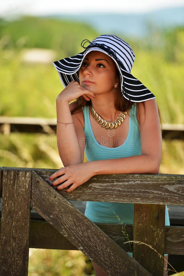 Beauty Girl Outdoor royalty free stock images