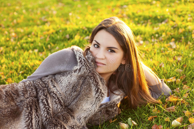 Beauty Girl Relaxing In Nature Stock Photography