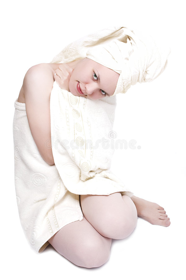 Download Beauty girl after shower stock image. Image of length - 1269835