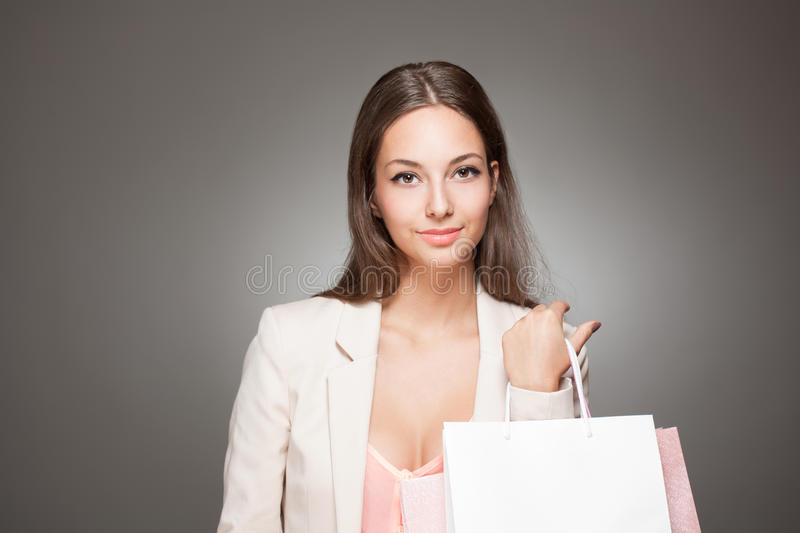 Download Beauty goes shopping. stock photo. Image of looking, brunette - 34484060