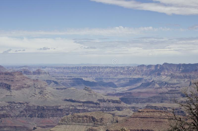 The beauty of Grand Canyon. Grand Canyon National Park, a powerful and inspiring landscape, overwhelms the senses through its immense size.nA unique combinations stock image