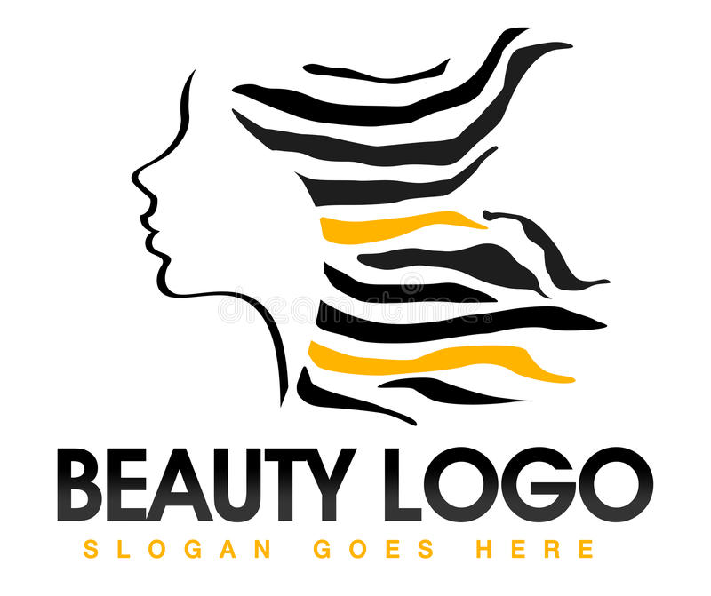 Download Beauty Hair Logo stock illustration. Image of modern - 32270355