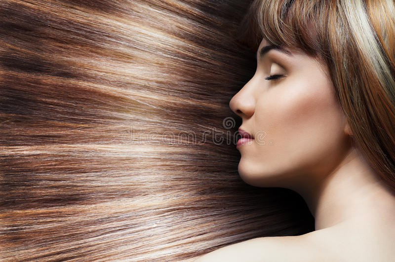 Beauty hair. Beauty woman with long hair royalty free stock photography